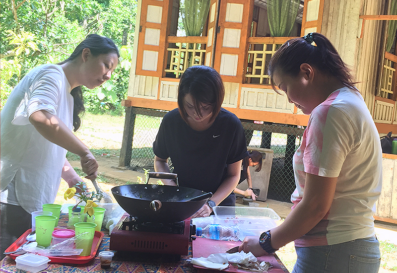 cooking class on Pulau Ubin