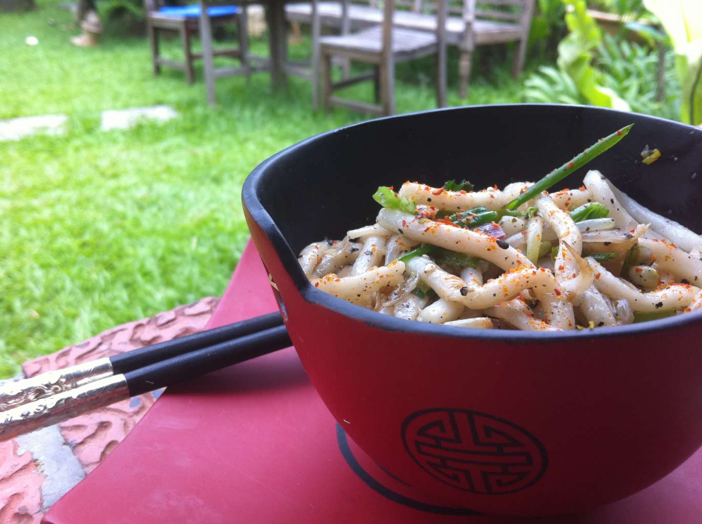 black pepper udon